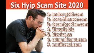 New Hyip Site||Six Hyip Scam Sites 2020||6 hyip sites With live withdraw proof  in Hindi/Urdu!