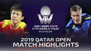 Lin Gaoyuan vs Mattias Falck | 2019 ITTF Qatar Open Highlights (1/2)