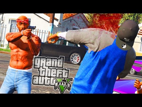 Tupac & The Bloods vs Crips! - GTA 5 Gang Mod - Day 134