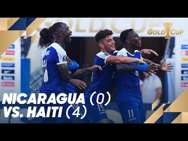 Nicaragua (0) vs. Haiti (4) - Gold Cup 2019