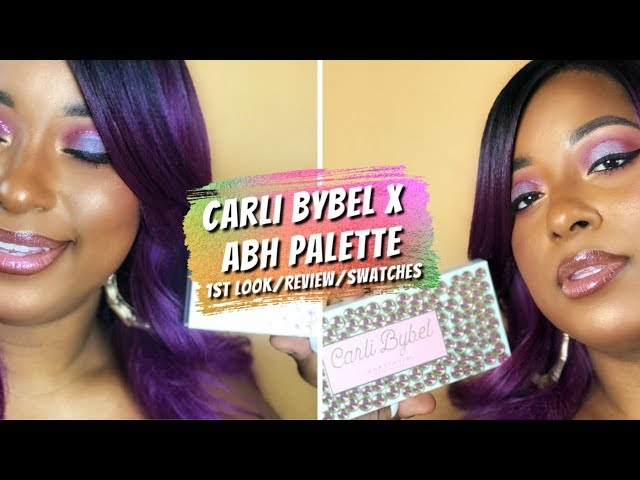 Carli Bybel x ABH Palette Eye Look on Dark Skin + Review x Swatches New ABH Makeup|| Vicariously Me