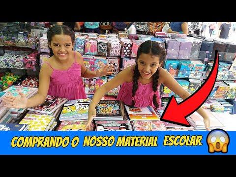 COMPRANDO O NOSSO MATERIAL ESCOLAR - DIÁRIO DAS GÊMEAS