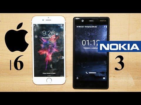Nokia 3 Vs iPhone 6 Speed Test
