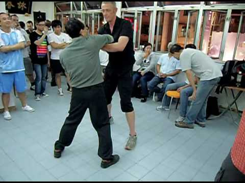 Sifu Matt Isaacs playing Chi sau with Sifu Kay Ho ...