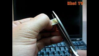 Hướng dẫn tự cắt sim nanoSIM cho Nexus 6  easy to cut sim card into nanoSIM