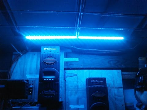 Marine 12 Volt LED Strip Light Night Light In Solar Shop Installation With KVUSMC