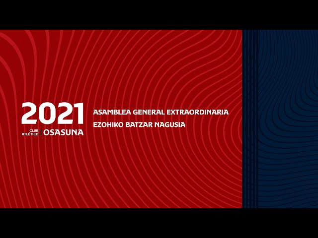 Asamblea General Extraordinaria 12-9-21