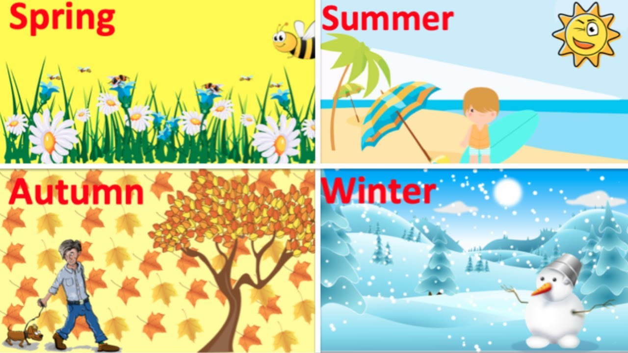 Download Four Seasons in English 🌞 | Seasons & Weather vocabulary