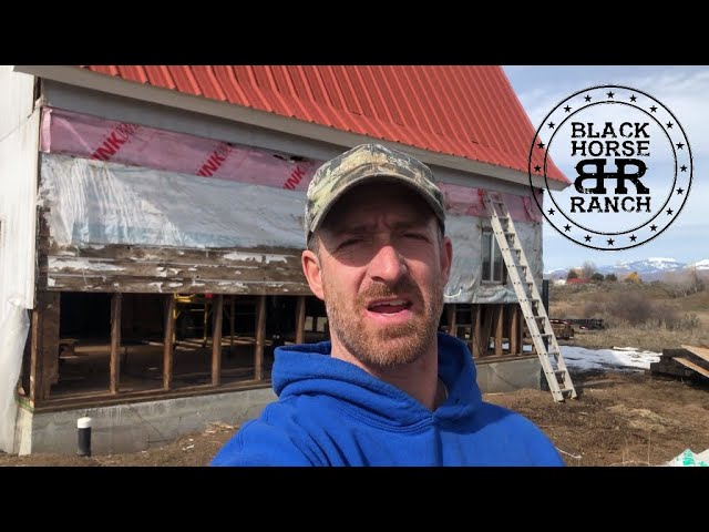 Historic Guest Barn Renovation - Episode 9, One wall down, Three to go