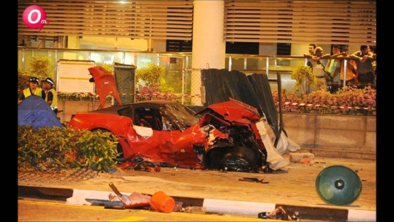 Tragic Accident In Singapore Ferrari Taxi With Post