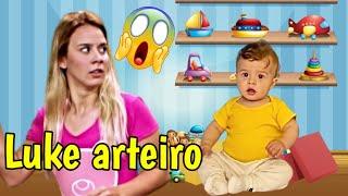 FILHO DO LUCCAS NETO NÃO OBEDECE A JESSI E ELA FICA BRAVA!