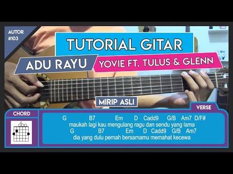 Tutorial Gitar (ADU RAYU - YOVIE TULUS GLENN) VERSI ASLI LENGKAP