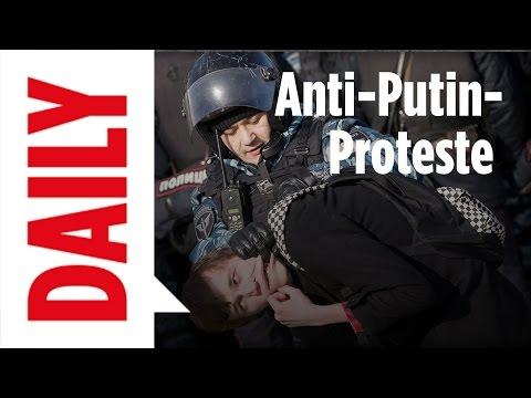 Proteste in Russland - über 1000 Verhaftungen - BILD Daily live 27.03.2017
