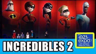 INCREDIBLES 2 Cast Presentation At Disney D23 Expo