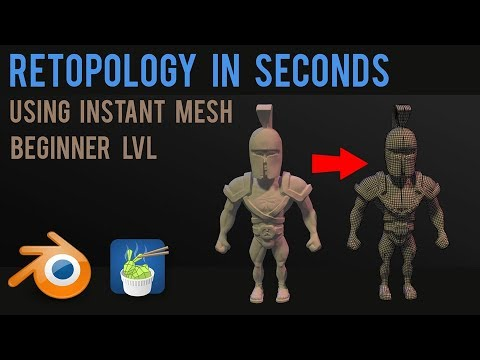 Retopology in a few seconds - instant mesh