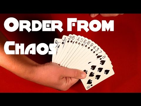 great card trick order from chaos youtube
