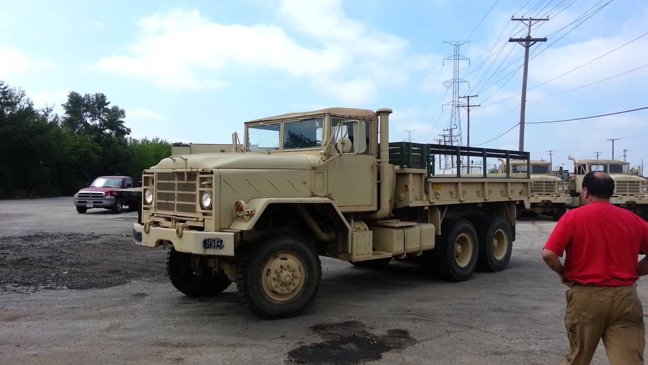 M923 5 ton military army truck for sale INV=12228 - YouTube