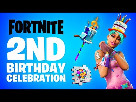 Fortnite 2nd BIRTHDAY EVENT! (New Fortnite Birthday Rewards)