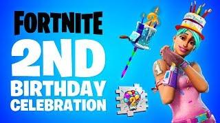 Fortnite 2nd BIRTHDAY EVENT! (New Fortnite Birthday Rewards)