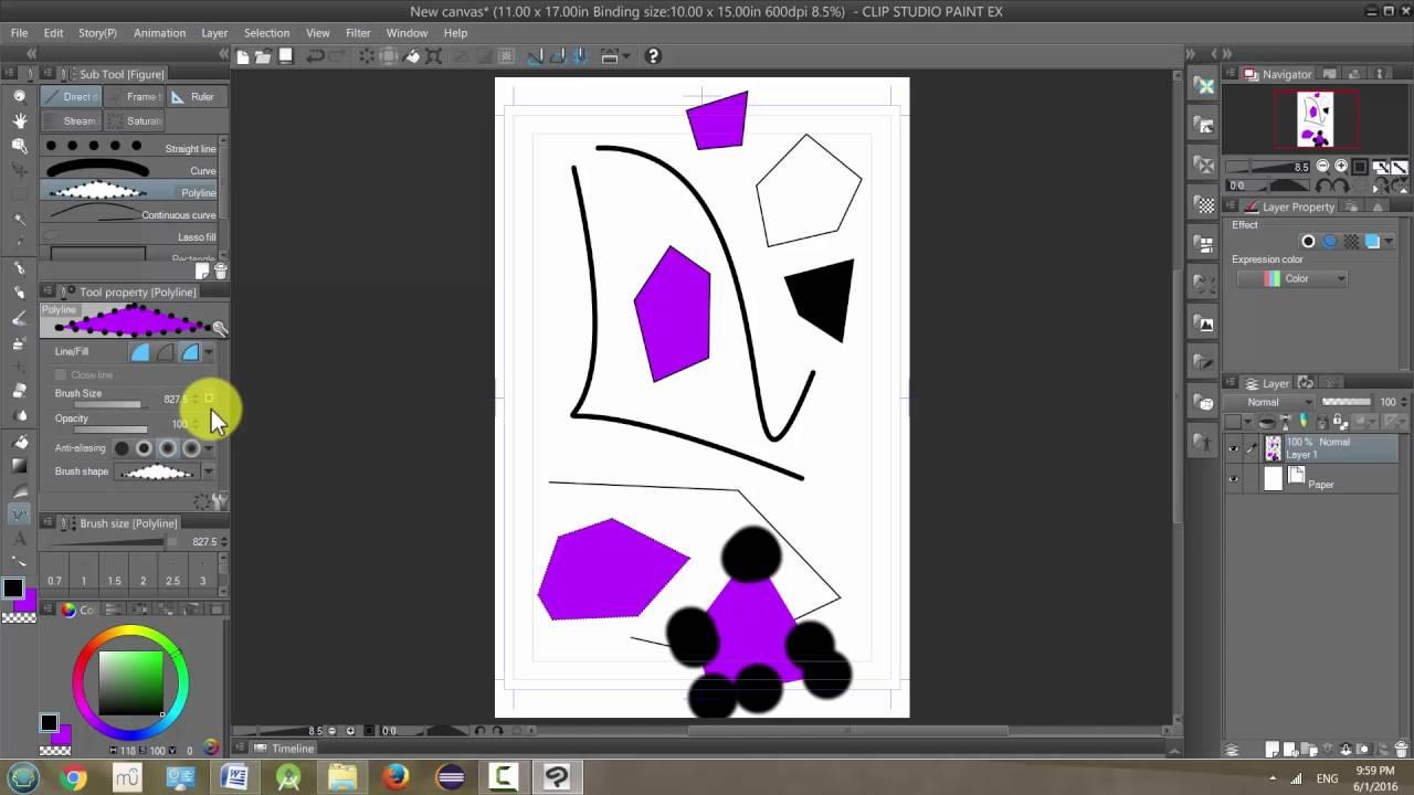 Manga Studio 5 / Clip Studio Paint: Direct Draw Tool