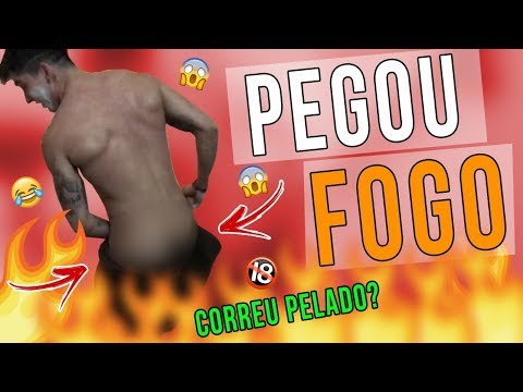 TROLLAGEM - PEGOU FOGO E O HENRIQUE SAIU CORRENDO PELADO