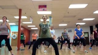 "Zumba ""Bang Dem Sticks"" with Rachel Pergl at Fitness In Motion"