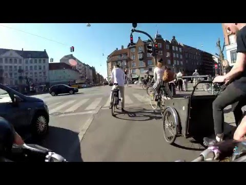 Biking in Copenhagen - Nørrebro - Nørreport - Summer time