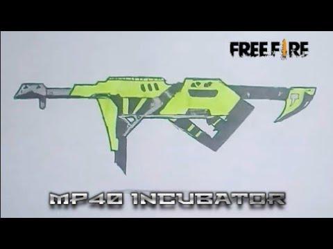 Menggambar Senjata Mp40 Incubator Free Fire Drawing Mp40 Incubator Ff Youtube