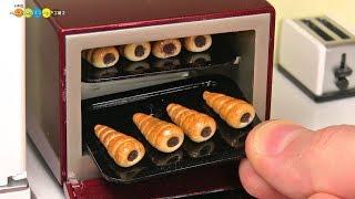 DIY Miniature Chocolate Cornets (Fake food) ミニチュアチョココロネ作り