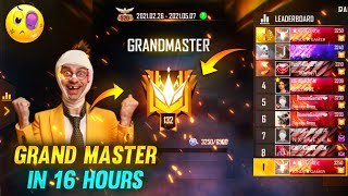 Grandmaster in just 16 Hours without Double Rank Tokens - Garena Free Fire || Tonde Gamer
