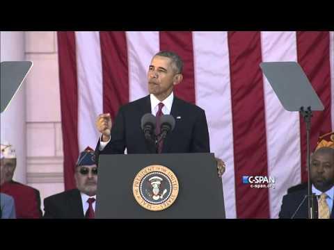 President Obama complete remarks on Veterans Day 2015 (C-SPAN)