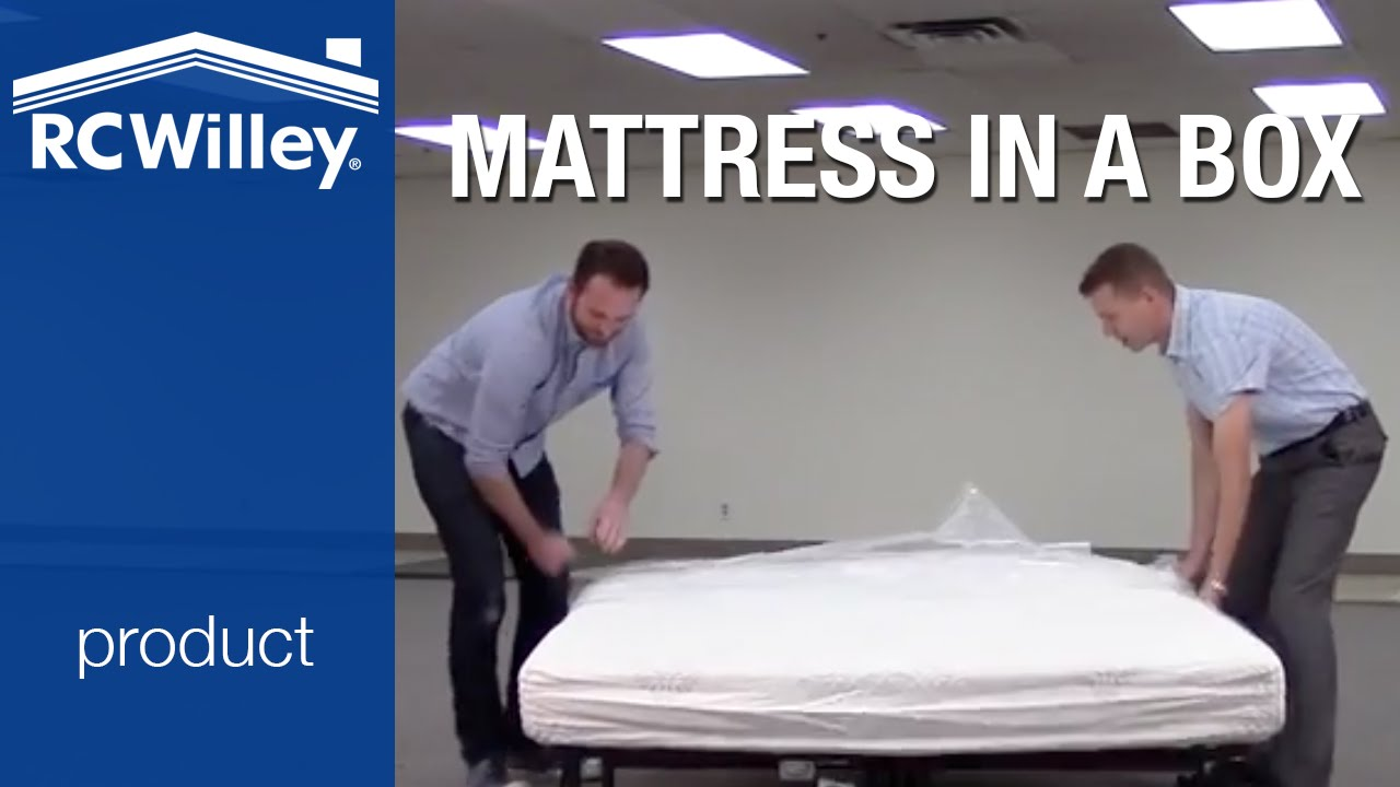 RC Willey Bed in a Box Memory Foam Mattress Unboxing