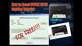 Epson l3110 resetter online reset works 100 download