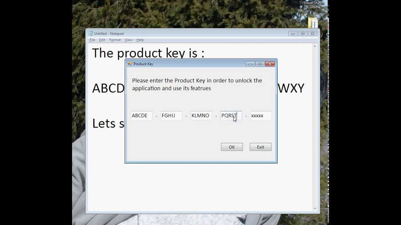 Implementing Product Key Technique in an Application