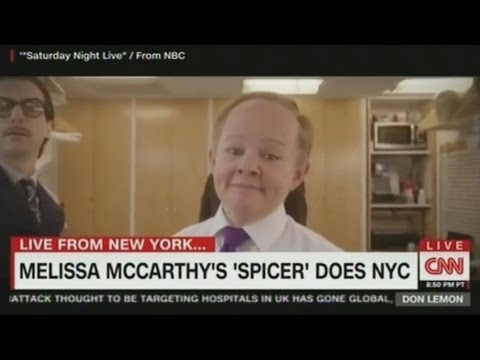 Thumbnail: SNL Melissa McCarthy Spicey Sean Spicer does New York as she prepares to host Saturday Night Live