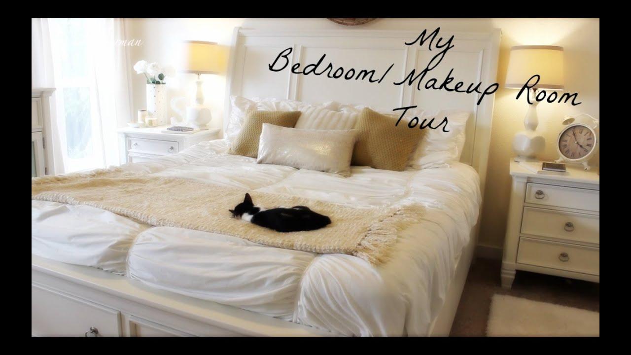 My Bedroom/Makeup Room Tour - YouTube on Makeup Bedroom  id=85170