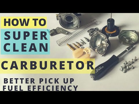 HOW TO SUPER CLEAN MOTORCYCLE CARBURETOR FOR HIGH PERFORMANCE, MILEAGE AND COLD STARTING PROBLEM