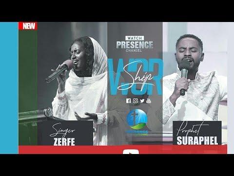 ዘማሪት ዘርፌ ከበደ እና ነብይ ሱራፌል ደምሴ በፕረዘንስ.........(Zerfe Kebede).....Presence TV | 8-Feb-2019 thumbnail