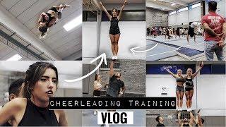 Erstes Mal Cheerleading seit 3 Jahren | Ich trainiere mit! | Vlog | #erstewahl2017