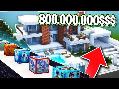 ¡¡CARRERA LUCKY BLOCKS en MANSIÓN de 800.000.000$$!! 💥🤑 LUCKY BLOCKS MINECRAFT MOD