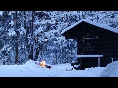 Winter Shelter Camping in the Snow