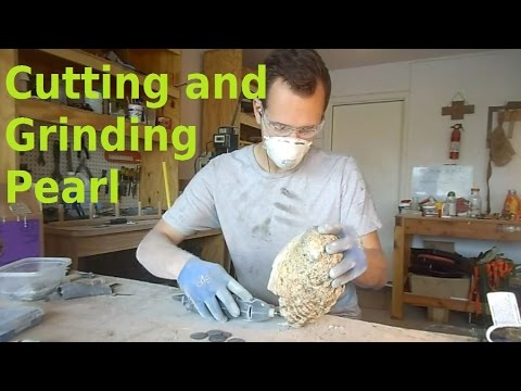 Grinding Whole Mother of Pearl Shells into Usable Inlay Blanks