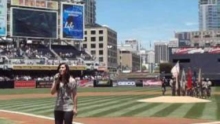 National Anthem & God Bless America ~ Mishavonna ~ San Diego Padres ~  PETCO PARK