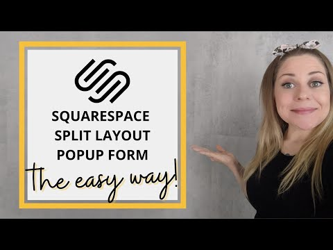 How to create a Split Layout Lightbox // Squarespace CSS Tutorial thumbnail