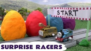 Play Doh Thomas The Tank Engine Surprise Egg Racers Play-doh Eggs Diesel 10 Raci