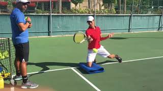 Video Advanced Tennis drills for open stance stance forehand, open stance backhand and slice, Brian Dabul download MP3, 3GP, MP4, WEBM, AVI, FLV Juni 2018