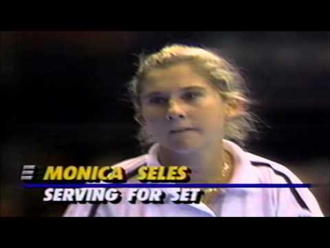 Monica Seles vs Gabriela Sabatini 1990 Virginia Slims Championships final