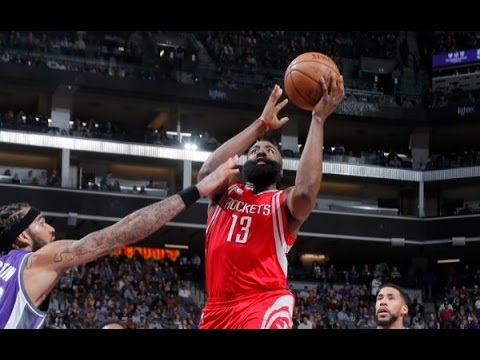James Harden's Big Game (35/11/15) Blasts Rockets Past the Kings | April 9, 2017