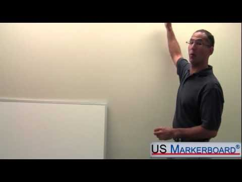 how-to-install-a-whiteboard---us-markerboard