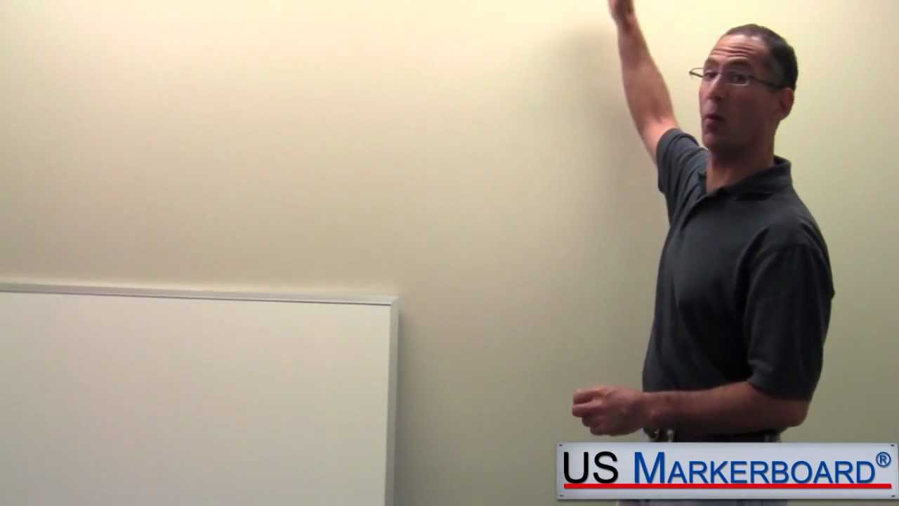 How To Install A Whiteboard Us Markerboard Youtube